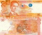 Philippines 20 Piso 2010 (AU3084xx) UNC