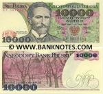 Poland 10000 Zlotych 1988 UNC