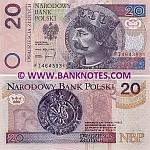 Poland 20 Zlotych 25.3.1994 UNC