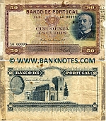 Portugal 50 Escudos 3.3.1938 (LG00098) (Sig: ÁPdS;MAdC-RdC) (circulated) VG-F (ph; tape)