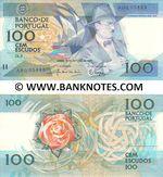 Portugal 100 Escudos 16.10.1986 (Sig: JAT-Moreira & WWP-Marques) (AHQ05442) UNC