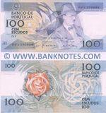 Portugal 100 Escudos 24.11.1988 (DFN0906xx) (Moreira & Ramalheira sig.) UNC