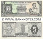 Paraguay 5 Guaranies (1963) (A4078014) UNC