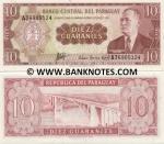 Paraguay 10 Guaranies L.1952 (1963) UNC