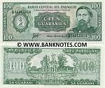 Paraguay 100 Guaranies L.1952 (1963) UNC
