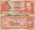 Paraguay 5000 Guaranies 2005 UNC