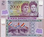 Paraguay 2000 Guaranies 2008 (plastic) (A04371xxx) UNC