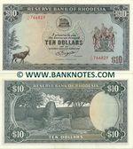 Rhodesia 10 Dollars 1.3.1976 (J/42 709217) AU+