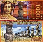 Rapa Nui / Easter Island 1000 Rongo 1.9.2011 polymer UNC