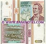 Romania 1000 Lei 1993 UNC