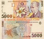Romania 5000 Lei 1998 UNC