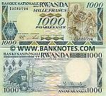 Rwanda 1000 Francs 1988 UNC