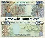 Rwanda 5000 Francs 1988 UNC