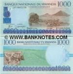 Rwanda 1000 Francs 1998 UNC