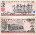 Rwanda 5000 Francs 1998 UNC