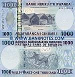 Rwanda 1000 Francs 2008 UNC