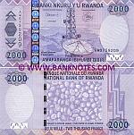 Rwanda 2000 Francs 2007 UNC