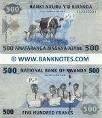 Rwanda 500 Francs 1.1.2013 (AC23202xx) UNC