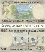 Rwanda 500 Francs 1.2.2019 (BC44187xx) UNC