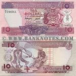 Solomon Islands 10 Dollars (1986) (B/3 244xxx) UNC