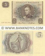 Sweden 5 Kronor 1963 (UP39156x) UNC