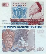 Sweden 100 Kronor 1980 (circulated) XF