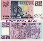 Singapore 2 Dollars (1998) UNC