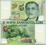 Singapore 5 Dollars (2007) (2EG089588) polymer UNC