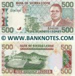 Sierra Leone 500 Leones 27.4.1991 UNC