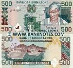 Sierra Leone 500 Leones 27.4.1995 UNC