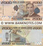 Sierra Leone 2000 Leones 27.4.2010 (DP2486xx) UNC