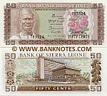 Sierra Leone 50 Cents 4.8.1984 (D/16 7835xx) UNC