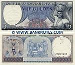 Suriname 5 Gulden 1963 (CN0496xx) UNC