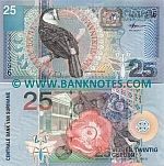 Suriname 25 Gulden 2000 (AY7019xx) UNC