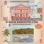 Suriname 5 Dollars 2004 (AA1763231) UNC