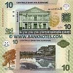 Suriname 10 Dollars 2004 UNC