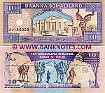 Somaliland 10 Shillings 1994 (AJ1660xx) UNC