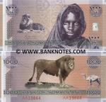 Somaliland 1000 Shillings 2006 UNC