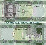 South Sudan 1 Pound 2011 (AG08512xx) UNC