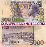 São Tomé e Príncipe 5000 Dobras 26.8.2004 (AA37038xx) UNC
