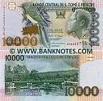 São Tomé e Príncipe 10000 Dobras 26.8.2004 (BA26057xx) UNC