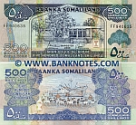 Somaliland 500 Shillings 2011 UNC