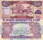 Somaliland 1000 Shillings 2011 (AQ6503xx) UNC