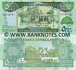 Somaliland 5000 Shillings 2011 UNC