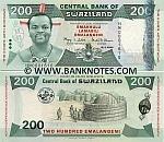 Swaziland 200 Emalangeni 19.4.2008 (HM0001604) UNC