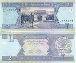 Afghanistan 2 Afghanis (2002) (Serial # 14/vao-dal 62663xx) UNC
