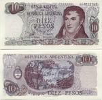 Argentina 10 Pesos (1976) (95.221.2xxD) UNC