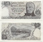 Argentina 50 Pesos (1976-78) (Series B) UNC