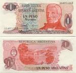 Argentina 1 Peso Argentino (1983) (96.693.3xxA) UNC