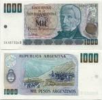 Argentina 1000 Pesos Argentinos (1983-85) (34.837.5xxD) UNC